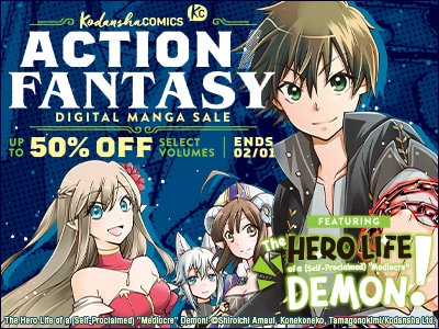 Bring some magical excitement into your life with the Action / Fantasy Digital Manga Sale (Ends 02/01)